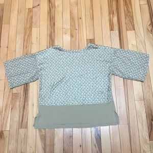 Mango Suit Green Blouse Size Small